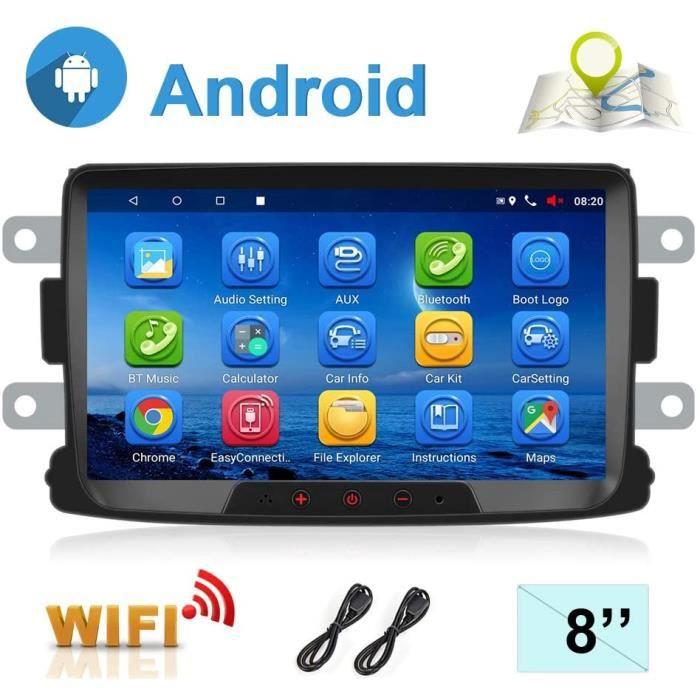 Accessoires pour lecteurs multimédia Autoradio Android 7.1 pour Renault Dacia Navigation GPS CAMECHO 8 Pouces écran Tact 874