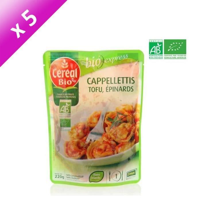 [LOT DE 5] Cappelettis farcis au tofu 220g Cereal Bio