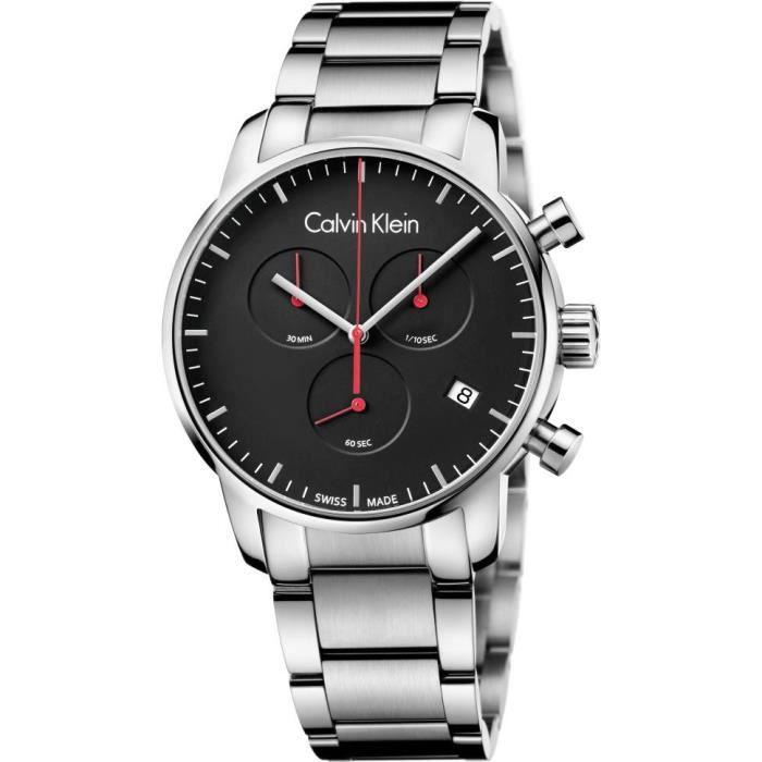 Calvin Klein City Chrono K2G27141 Chronographe pour homme Fabriqué en Suisse