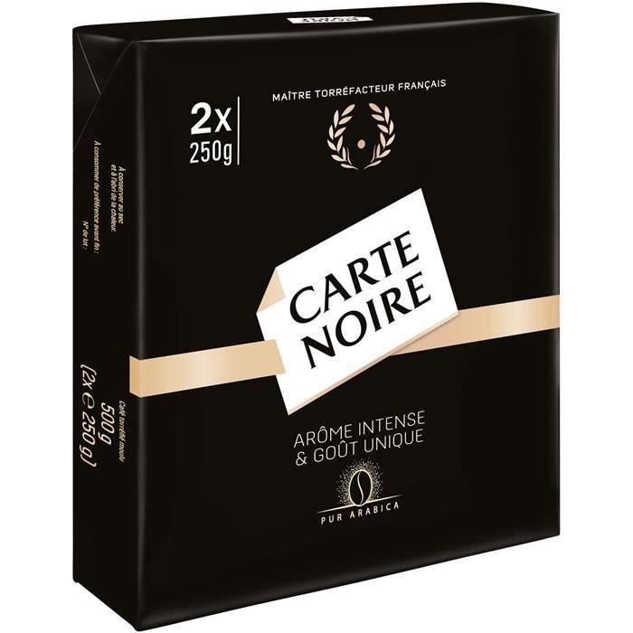 LOT DE 5 - CARTE NOIRE : Café moulu pur Arabica 2 x 250 g