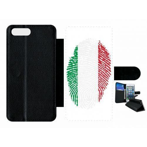 etui rabat apple iphone 7 plus empreinte digitale drapeau italie italy!!!