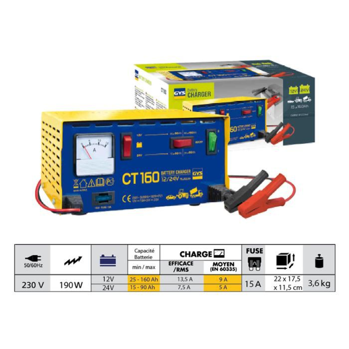 CHARGEUR TRADITIONNEL CT 160 GYS 024106