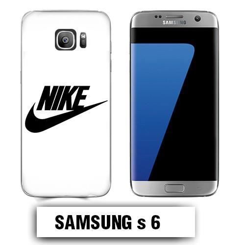 Coque Samsung S6 logo NIKE Blanc