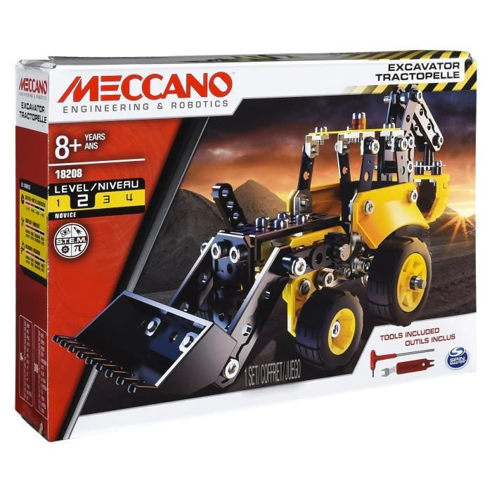 MECCANO Tractopelle de chantier à construire