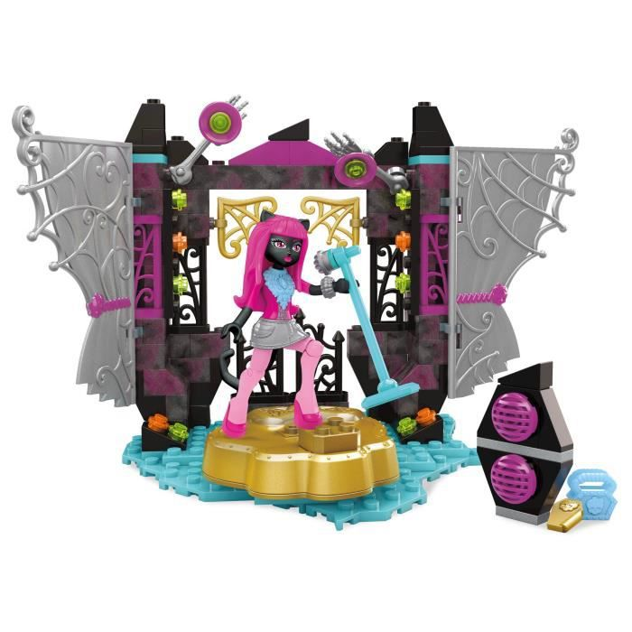 MEGA BLOKS Mega Construx Monster High Catty Noir Stage Fright Building Set ZWLFS