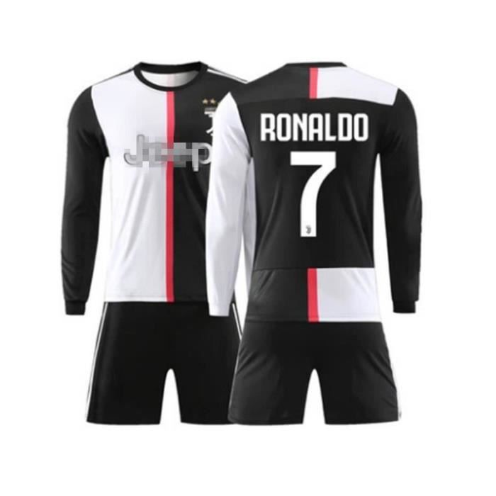 Nouveau Manches Longues Maillot et Shorts de Football Cristiano Ronaldo NO.7 Juventus 19/20 Enfant