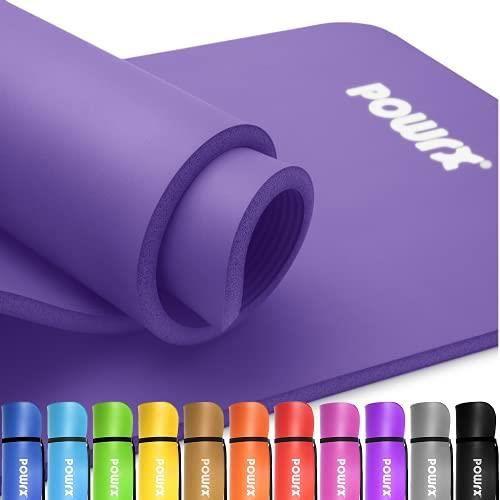 Tapis de gymnastique de 1,5 cm d'épaisseur 60 ou 100 cm de large Couleur: Violet, Taille: 190 x 80 x 1,5 cm