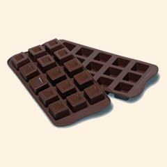 Moule silicone 15 chocolats Cubes