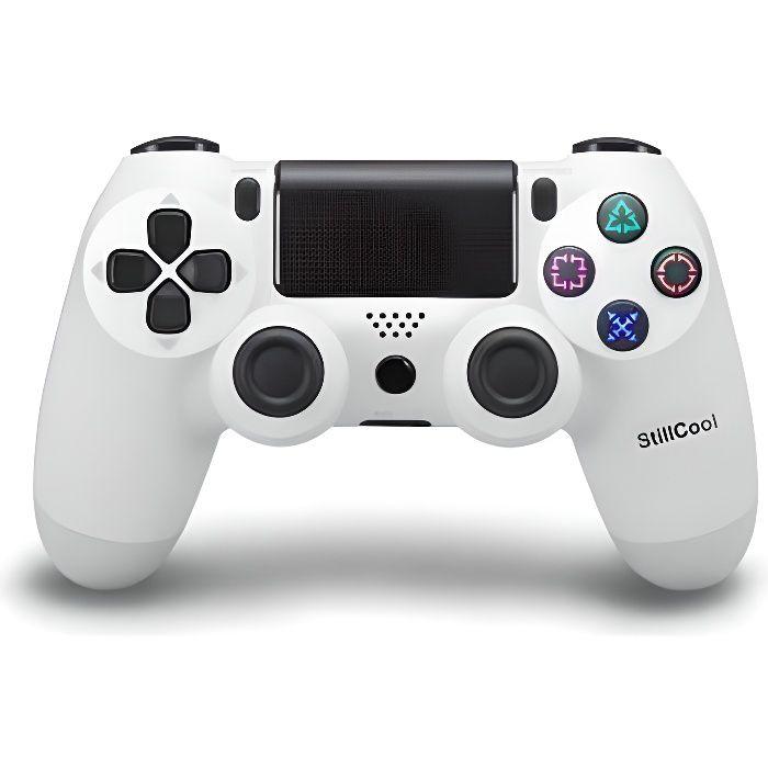 Stillcool® Manette PS4 Sans Fil pour Controleur de Jeux Gamepad Blanc Joystick Bluetooth Gaming
