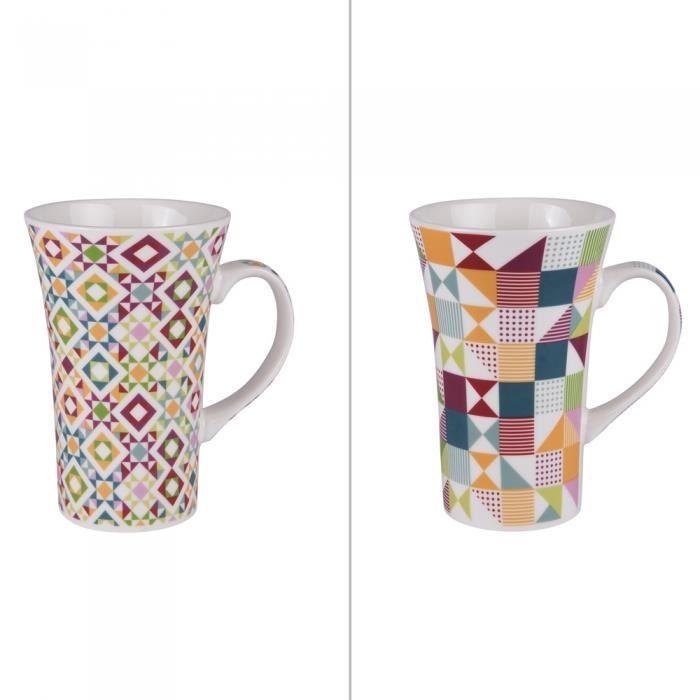 Coffret 2 mugs xl brazilia 55 cl - Table Passion Multicolore