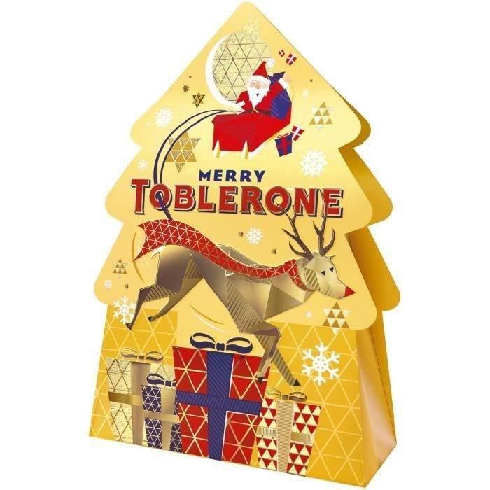 TOBLERONE - Assortiment de Chocolats de Noël - Boîte sapin de 144 g