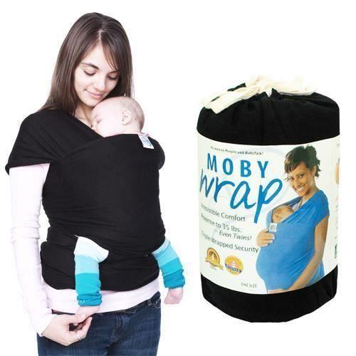Echarpe porte-bébé avec élastique ECHARPE DE PORTAGE Noir