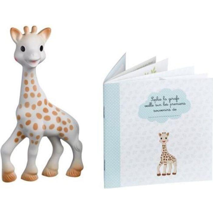 VULLI-Sophie la girafe + livret mes souvenirs naissance Naissance