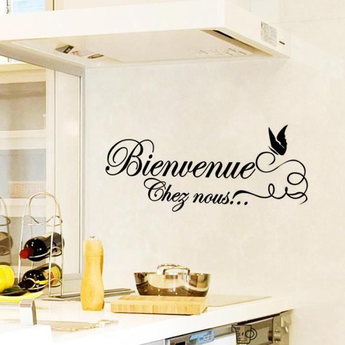 Noire Creative Bienvenue Chef Nous Sticker Mural Pour Cuisine