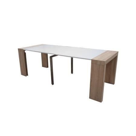 Table console extensible othello 5 allonges ch ne clair 3m15 achat vent - Cdiscount console extensible ...
