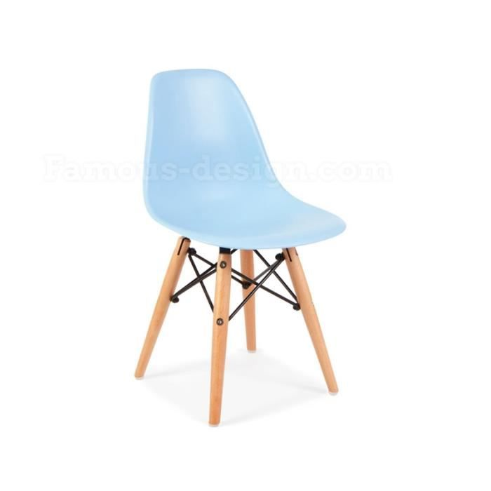 Chaise enfant eames dsw bleu achat vente chaise for Achat chaise eames
