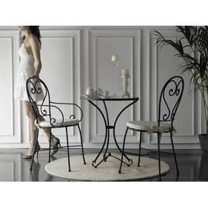 Table bistrot cordoba plateau en marbre blanc achat for Table bistrot marbre ronde
