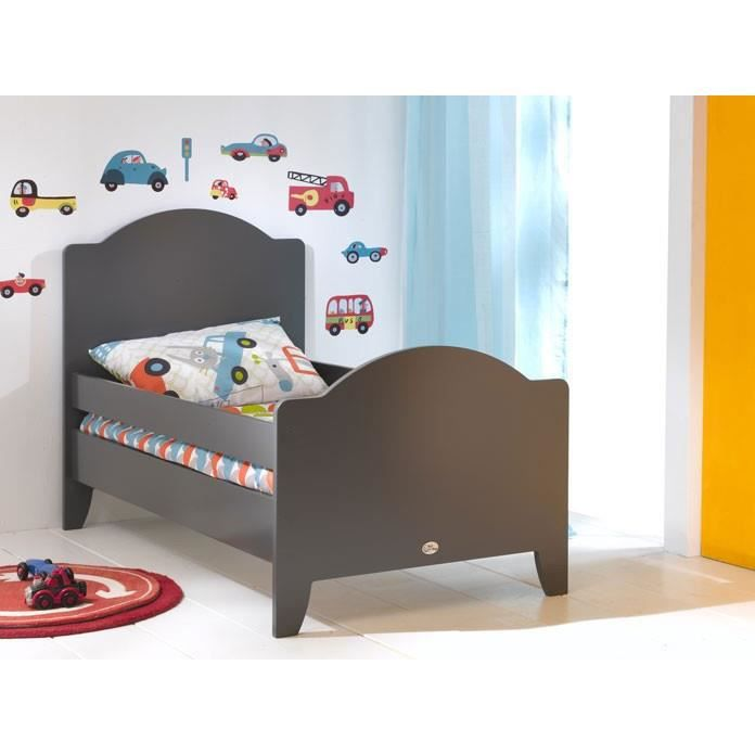 lit enfant 90 x 190 calypso gris achat vente lit complet lit enfant 90 x 190 calypso. Black Bedroom Furniture Sets. Home Design Ideas