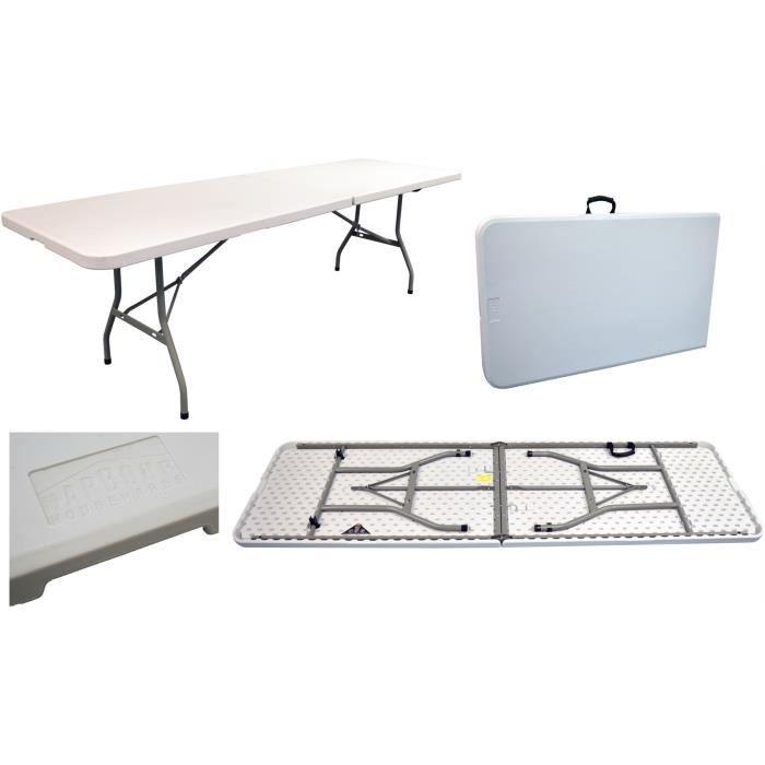 facile les 4 m8 Table pliante à 2 tréteau évènements ftpliable pour ranger lKFJucT13