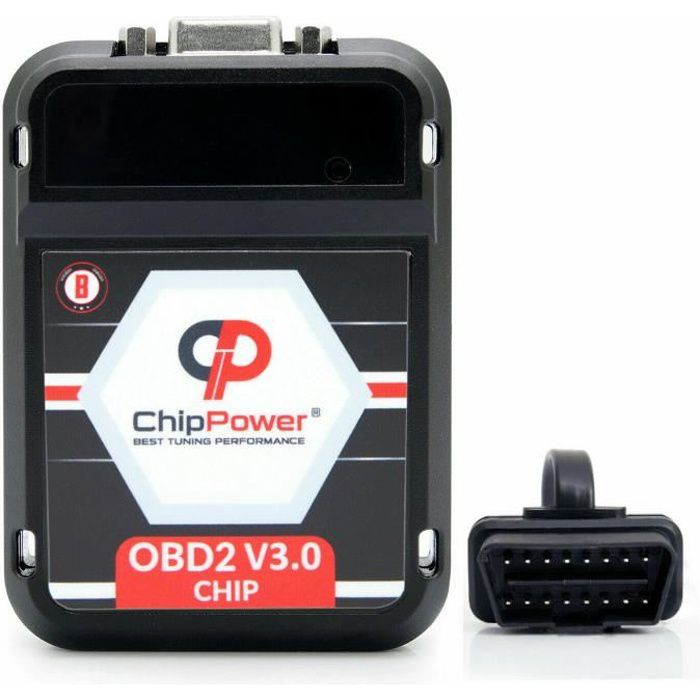 Boitier Additionnel Puce OBD2 v3 pour 207 CC SW 1.6 HDi Chip Tuning Box Diesel