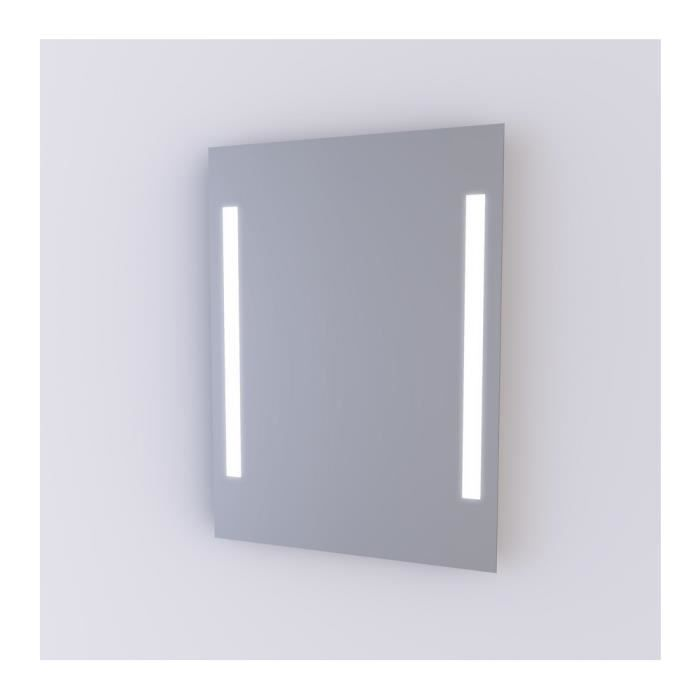 Aurlane miroir clairant n on lighting 50x70cm achat for Miroir 50 x 90