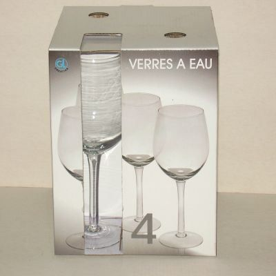 coffret 4 verres pied eau brasserie achat vente verre eau soda cdiscount. Black Bedroom Furniture Sets. Home Design Ideas