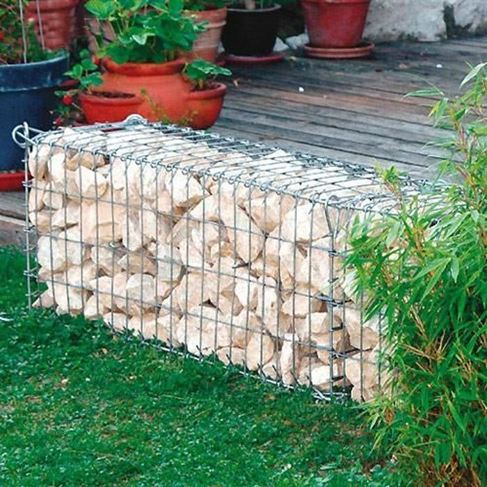 gabion mur cage pierre hauteur 40cm achat vente pierre. Black Bedroom Furniture Sets. Home Design Ideas
