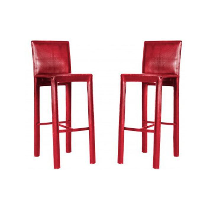 lot de 4 tabouret de bar rouge loft pu achat vente tabouret de bar soldes cdiscount. Black Bedroom Furniture Sets. Home Design Ideas