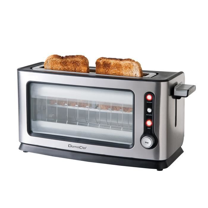grille pain vitr en alu bross domoclip dod106 achat vente grille pain toaster cdiscount. Black Bedroom Furniture Sets. Home Design Ideas