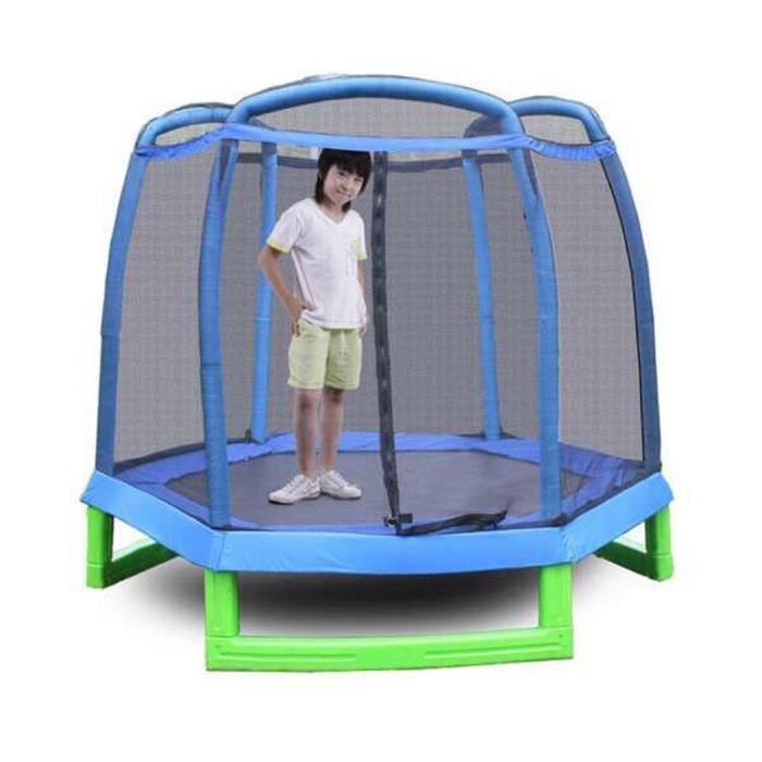 Trampoline Hexagone Enfants Avec Filet Prix Pas Cher Cdiscount