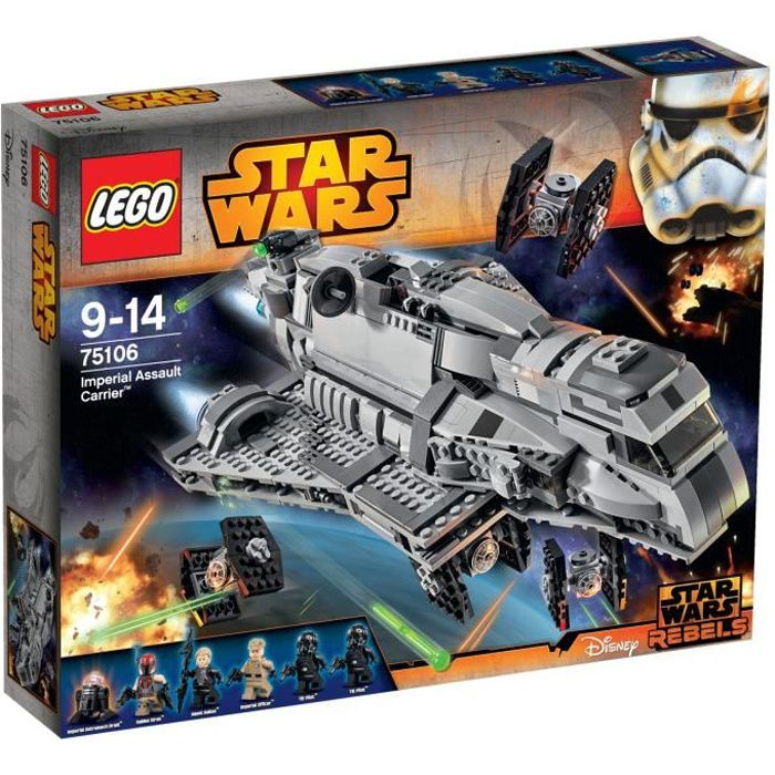 lego star wars 75106 imperial assault carrier achat vente assemblage construction cdiscount. Black Bedroom Furniture Sets. Home Design Ideas