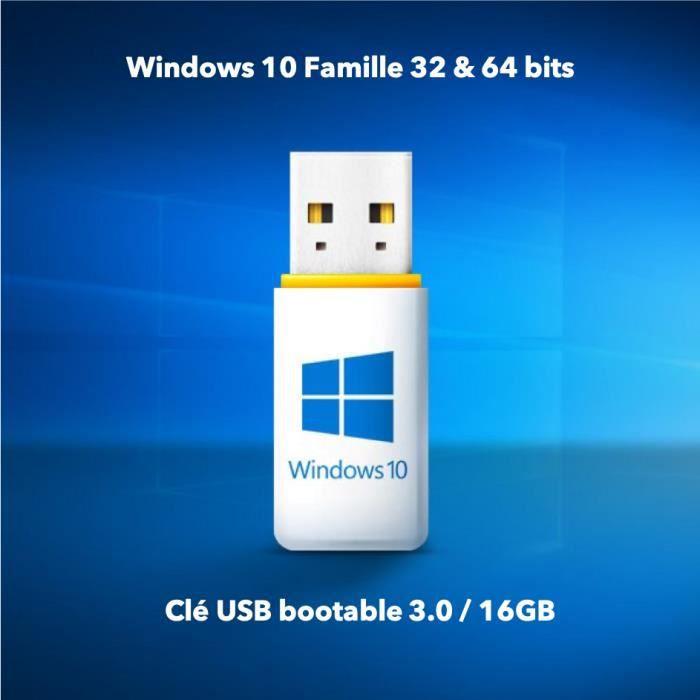 SYSTÈME D'EXPLOITATION Windows 10 Famille Home intégral, 32 et 64 BIT