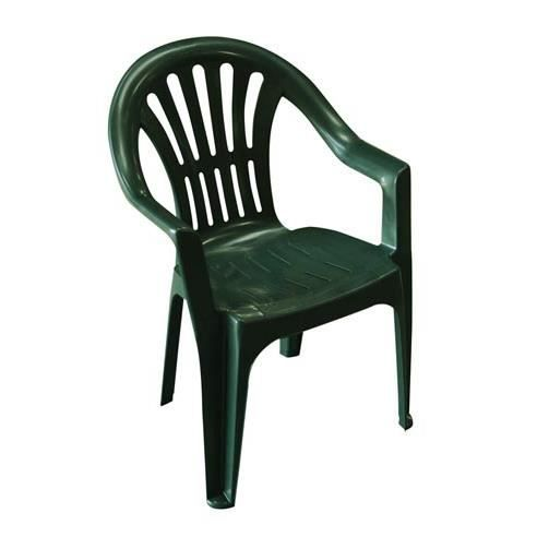 lot 4 chaises jardin en plastique vert elba achat. Black Bedroom Furniture Sets. Home Design Ideas