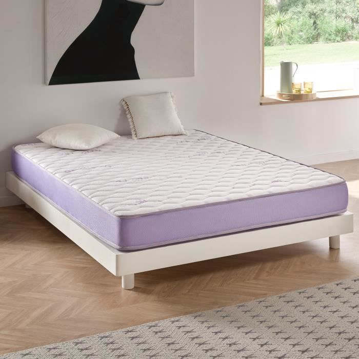 Matelas Geltec En Mousse De Gel A Memoire Blue Latex 160x200 Cm
