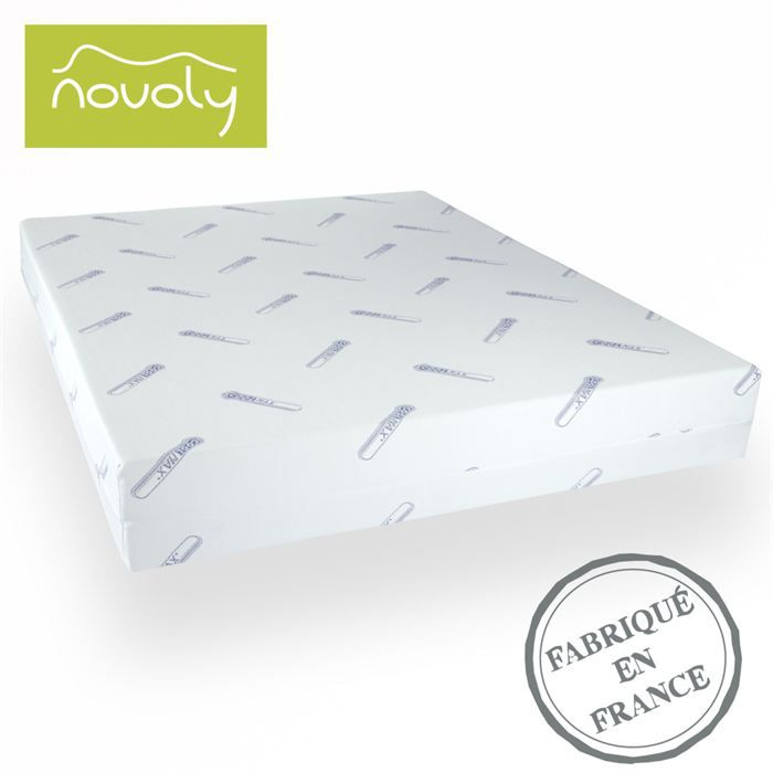 matelas m moire de forme 80x200 novobest achat vente matelas cdiscount. Black Bedroom Furniture Sets. Home Design Ideas