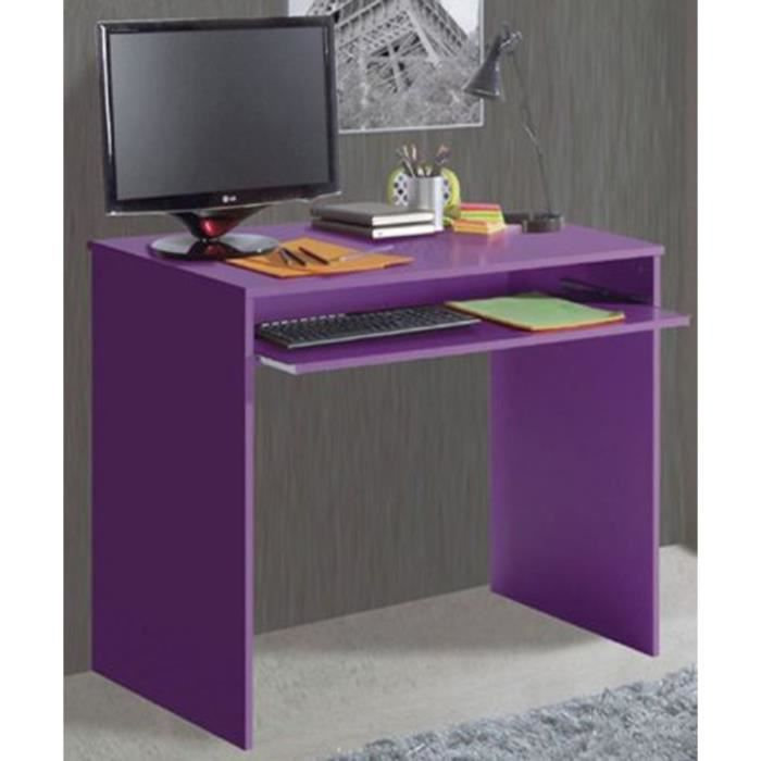 Table d 39 ordinateur coloris lilas fonc 79 x 9 achat vente meuble - Table and co vente en ligne ...