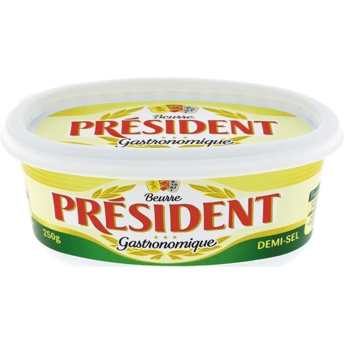BEURRE Président beurre 1/2 sel en beurrier 250g