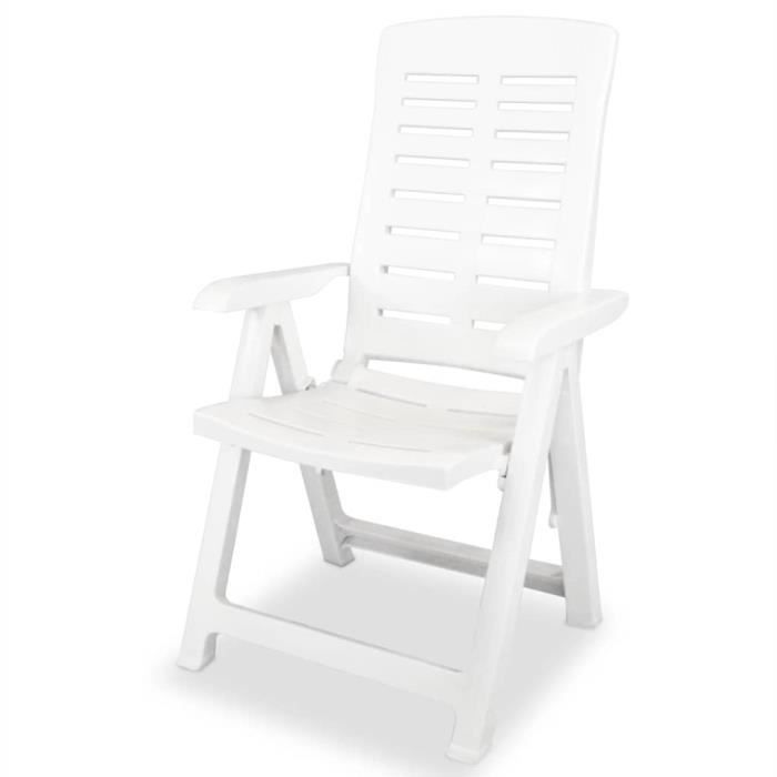 chaise inclinable de jardin 6 pcs 60x61x108 cm cha