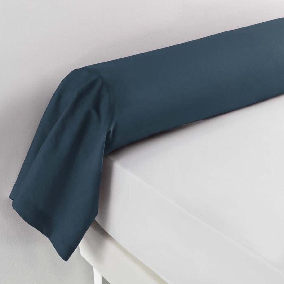 Douceur dInt/érieur Traversin Point Bourdon Blanc 100/% Coton 185 x 85 cm