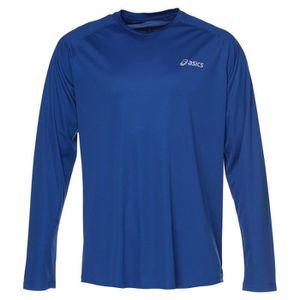 MAILLOT DE RUNNING ASICS Crew Tee shirt manches longues Homme - Bleu