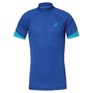 MAILLOT DE RUNNING ASICS Tee shirt manches courtes - Demi Zip Homme -