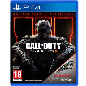 JEU PS4 Call of DUTY Black Ops III Zombies Chronicles Jeu