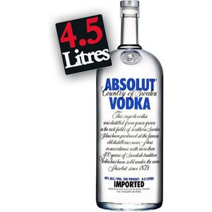 VODKA Absolut Vodka Gallon 4.5L