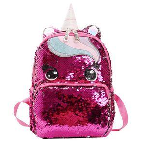 SAC À DOS Sac A Dos W4J7A Glitter Unicorn Sac à dos école de