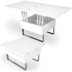 TABLE BASSE TABLE BASSE RELEVABLE MULTIFONCTION WOODS LAQUÉE B