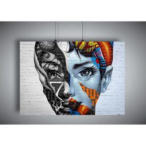 AFFICHE - POSTER Poster Banksy Style STREET ART WOMEN FACE Wall Art