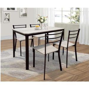 TABLE À MANGER COMPLÈTE Table de cuisine et salle à manger + 4 chaises LEE