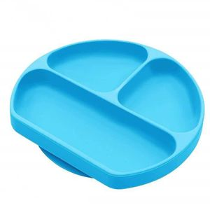 Coque en silicone Assiette Grade Silicone Ventouse antid/érapante Portable divis/é Section Smile pour nourrir b/éb/é Plateau Assiette Bol Red