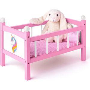 MAISON POUPÉE DREAM Lit de poupée licorne jouet en bois avec par