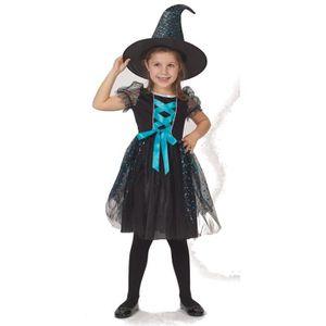 DÉGUISEMENT - PANOPLIE CIJEP Déguisement Robe Halloween Bleue Avec Chapea